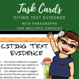 Citing Text Evidence Task Cards