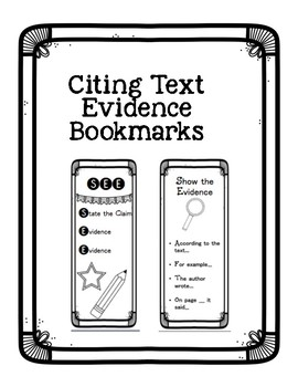 Citing Text Evidence - Test Prep