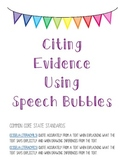 Citing Text Evidence Using Quote Bubbles