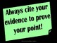 Citing Textual Evidence Bulletin Board