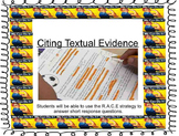 Citing Textual Evidence Lesson Plan (Everything Included)