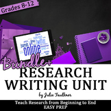 Research Writing Unit, Curriculum BUNDLE+