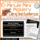Citing Text Evidence Mini-Lesson, PowerPoint & Digital Versions