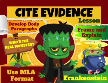Frankenstein Argument Essay:  Citing Textual Evidence Mini-Lesson and Posters
