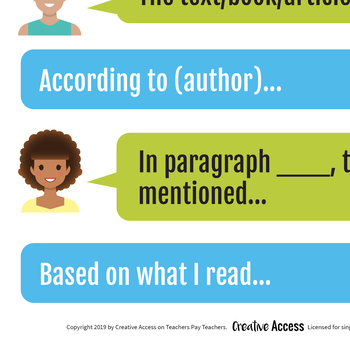Citing Textual Evidence Poster