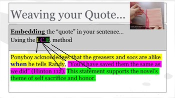 Citing Textual Evidence Using Complex Sentences