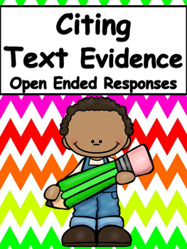 Citing Text Evidence in Open Ended Responses