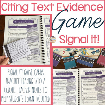 Citing and Embedding Text Evidence GAME!