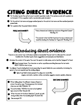 Citing and Introducing Evidence
