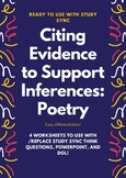 Citing evidence to support inferences in Poetry for Study Sync