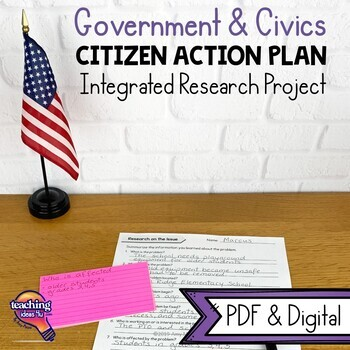 Citizen Action Plan Community Research Writing Unit Civics & Government