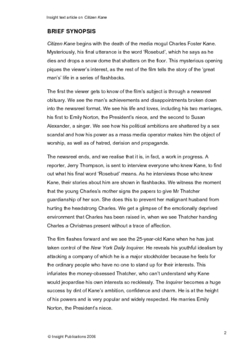 Citizen Kane Insight Text Article