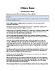 Citizen Kane - Study Guide