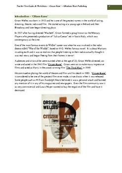 Citizen Kane -Welles Teacher Text Guide & Worksheets