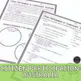 Citizen Participation in Gov't: Australia Reading Activity
