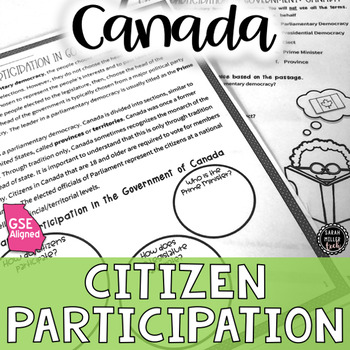 Citizen Participation in Government Canada Reading Activity (SS6CG2, SS6CG2a)