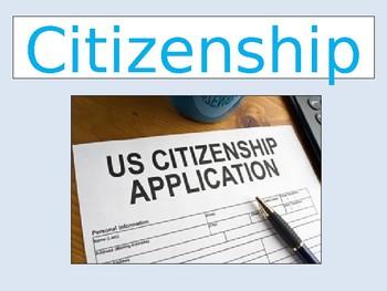 Citizenship Unit Introduction Powerpoint