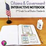 Citizens & Government Interactive Notebook for 2nd Grade Social Studies Civics