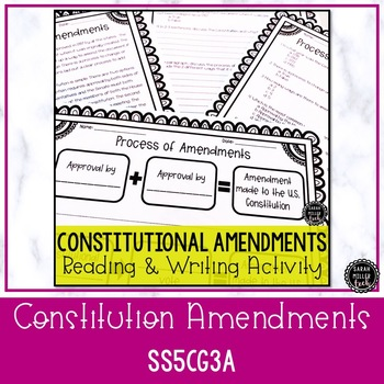 Citizens Rights & Amendments Reading Activity BUNDLE (SS5CG1, SS5CG2, SS5CG3)