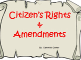 Citizen's Rights and Amendments BUNDLE- 5th Social Studies