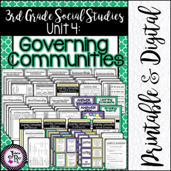 Citizens and Government: TRS 3rd Grade Social Studies Unit 9