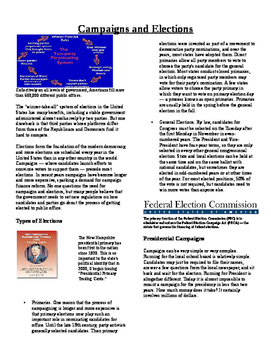 Informational Text-Citizens and Government: Campaigns and