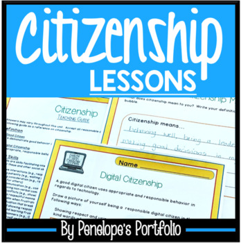CITIZENSHIP Character Education Packet