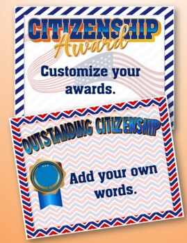 Citizenship Awards Pack {Add your words}