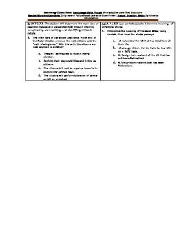 Citizenship Bellwork SS.7.C.2.1 & SS.7.C.2.2