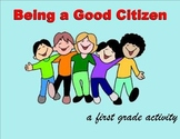Citizenship Booklet Activity and SmartBoard Lesson for First Grade
