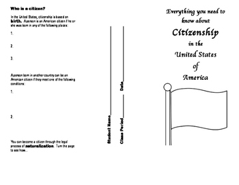 Citizenship Brochure:  Cut-out Version