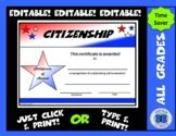Citizenship Certificate - Editable
