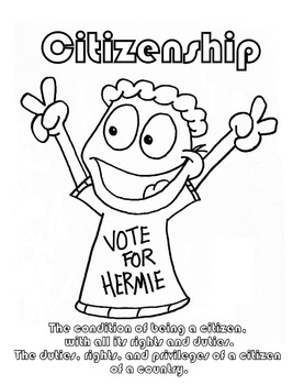 Citizenship Character Education Coloring sheet
