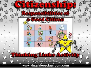 Citizenship: Good Citizen or Bad Citizen Thinking Links Activity #4 - Pictures