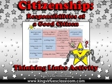 Citizenship: Good Citizen or Bad Citizen Thinking Links Activity #3 - Examples