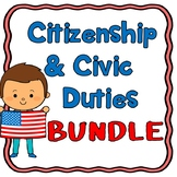 Citizenship, Naturalization and Civic Duties Unit Bundle  SAVE $