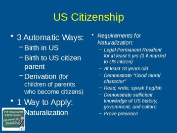 Citizenship Class Lesson 1 (of 6) to Pass the U.S. Citizenship Civics Test
