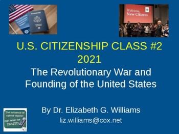 Citizenship Class Lesson 2 (of 6) to Pass the U.S. Citizenship Civics Exam