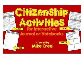 Citizenship - Class Rules Journal Activities