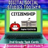 Citizenship Digital Social Studies Toothy® Task Cards | Di