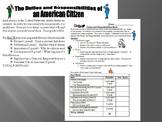 Citizenship: Duties and Responsibilities of American Citizens Activities