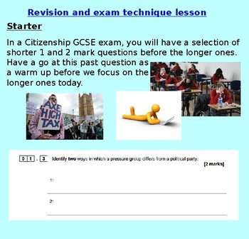 Citizenship: Exam Practice and Revision KS3