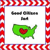 Citizenship: Good Citizen Sorting Activity