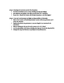 Citizenship Handbook Jigsaw Activity