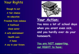 Citizenship & Human Rights Smartboard Lesson - Actions that DENY our Rights