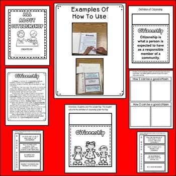 Citizenship Interactive Notebook Activities