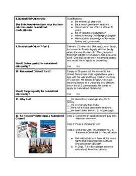 Tutorial - Citizenship - It All Starts Here - Study Guide & Answer Key