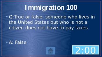 Citizenship Jeopardy