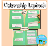 Citizenship Lapbook {flip book} for Social Studies