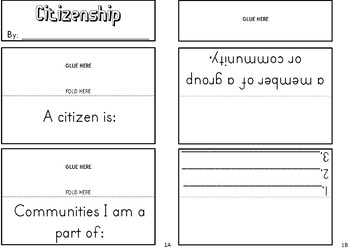 Citizenship Lapbook {flip book} for Social Studies